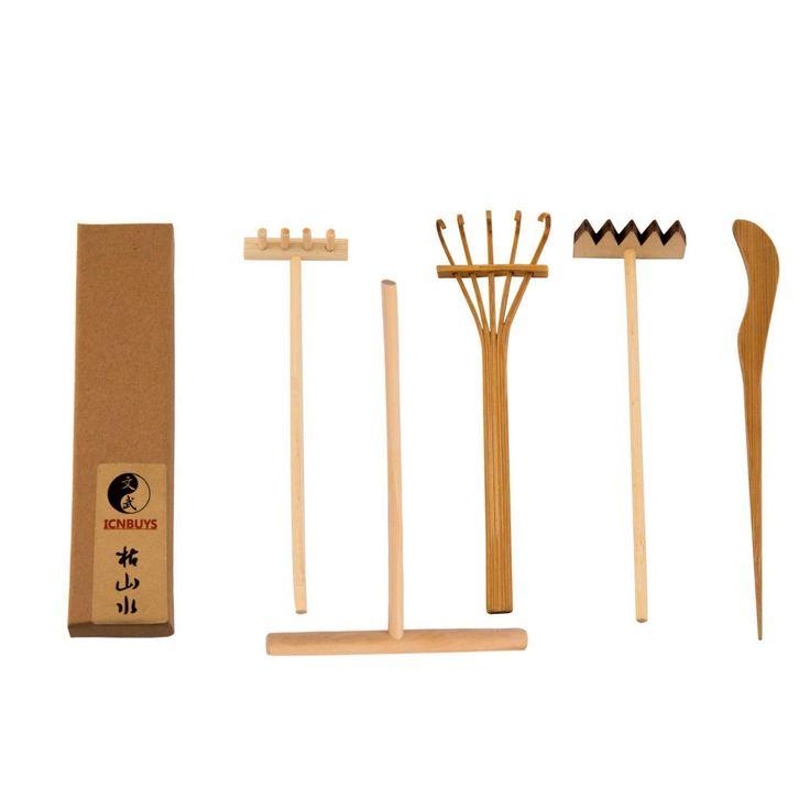 Icnbuys professionale mini strumenti da giardino Zen set