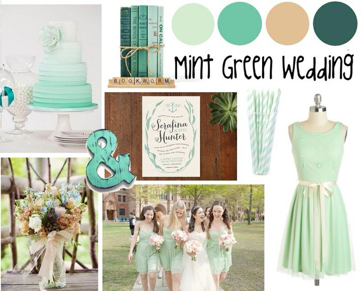 Mint color and green