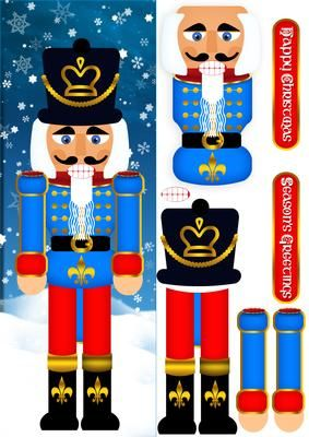 Nutcracker Soldier Christmas Step By Step Large DL on Craftsuprint - Add To Basket!