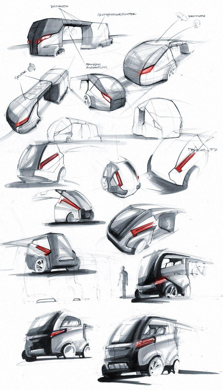 Markersketch, Comic, Industrial Design Sketch, Florian Mack, Transportation Design