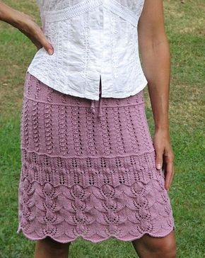 Ажурная многослойная юбка вязаная крючком