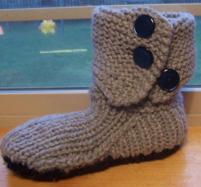 66 best Loom knit slippers images on Pinterest | Knitting ...