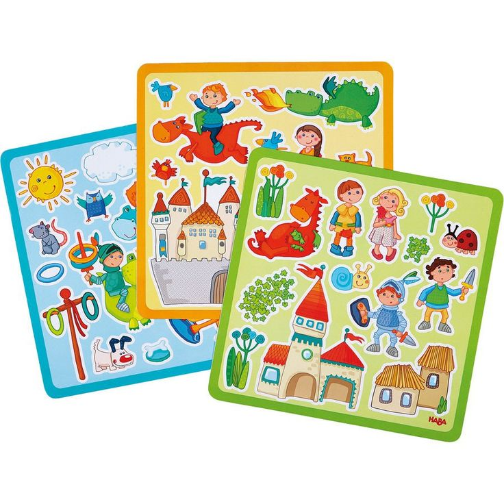 Raamsticker Ridder Haba - Deze stickers geven elk raam een sprookjesachtige sfeer.  Inhoud: 3 vellen met verschillende plaatjes.  Herbruikbaar en verwijderbaar