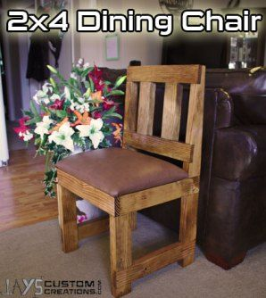 Learn How to Build Rustic, Chunky Dining Chairs from 2x4s
