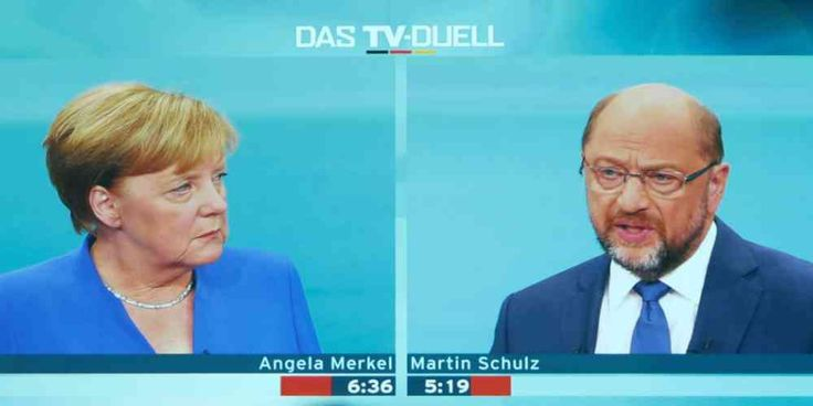 "Top News: ""GERMANY POLITICS: Not Again! German Media Bemoan Grand Coalition Scenario After Limp TV Duel"" - https://i2.wp.com/politicoscope.com/wp-content/uploads/2017/09/Angela-Merkel-of-the-Christian-Democratic-Union-CDU-and-her-challenger-Germanys-Social-Democratic-Party-SPD-candidate-for-chancellor-Martin-Schulz-german-GERMANY-POLITICS-HEADLINE-NEWS.jpg?fit=1000%2C500 - Newspaper Handelsblatt said Schulz had not really attacked the incumbent chancellor, adding: ""Martin S"
