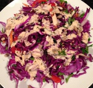 Review: Mayim's Rainbow Cabbage Salad with Tahini-Lemon Dressing