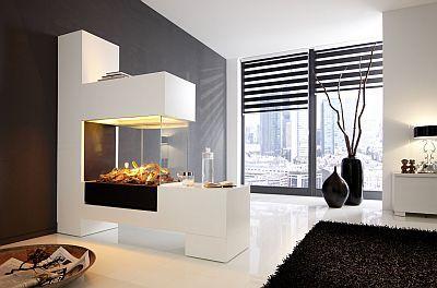 ELEKTROKAMINE + 3D-Elektrofeuer-Einsätze - Fast alle unserer Kamine sind wahlweise mit Elektrofeuer bestellbar. kamin-design.com