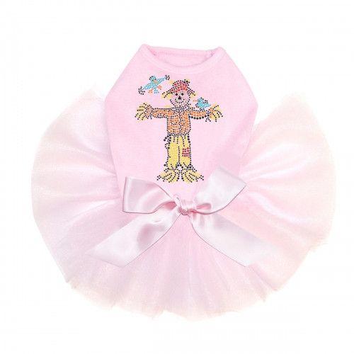 Scarecrow Rhinestone Tutu Dog Dress