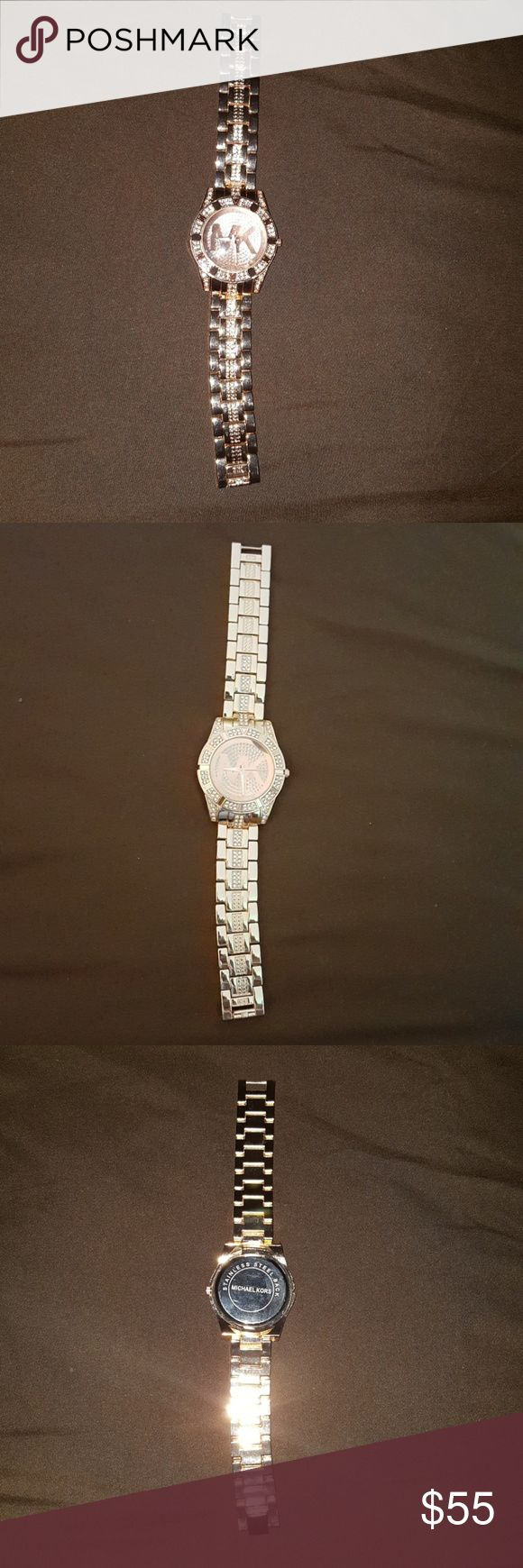 Rose gold Michael kors watch price firm Pre owned Good condition Like new Works great Michael Kors Accessories Watches