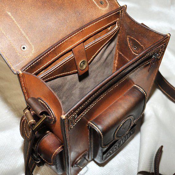 Brown Leather Men S Tablet Messenger Bag Leather Leather Men