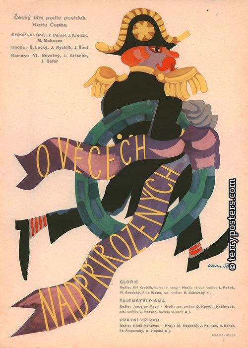 Authors: Vaca, Karel   Origin of film: Czechoslovakia   Year of poster origin: 1958   Director: Jiří Krejčík, Miloš Makovec, Jaroslav Mach
