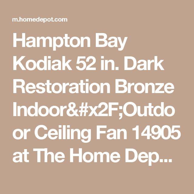 Hampton Bay Kodiak 52 in. Dark Restoration Bronze Indoor/Outdoor Ceiling Fan 14905 at The Home Depot - Mobile