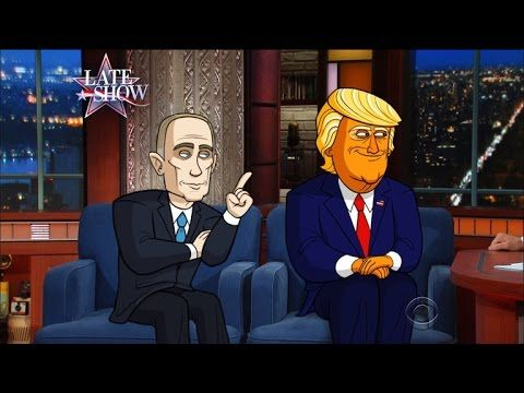 Cartoon Trump And Cartoon Putin Make First Joint Public Appearance | In this revealing Late Show interview, the two world leaders make abundantly clear their feelings for each other.