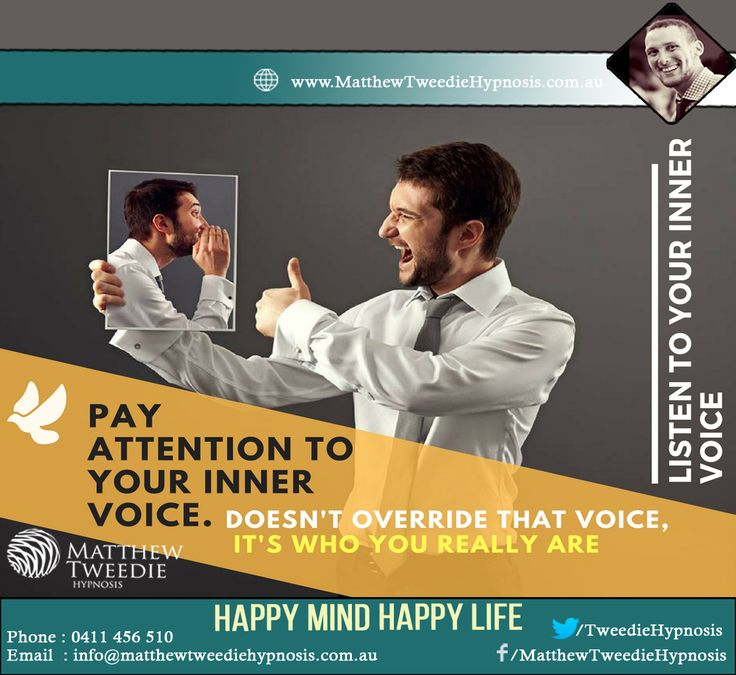 Hypnosis Tip >> Pay attention to your inner voice, and listen to what it is trying to tell you. Notice how giving your inner self some importance, rapidly improves your Hypnosis skills.  #Hypnosis #Innervoice #StressFreeLife #LiveLife # #WhyHypnotherapy #TimeForLife #YouAreWorthy #HypnosisTip
