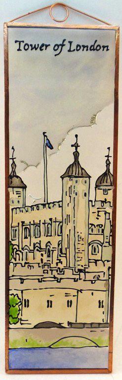 Tower of London Grafika: Navratil Zsuzsa Üvegre kivitelezte: Kőrösi Andrea Mérete: 7,5 cm x 23,5 cm