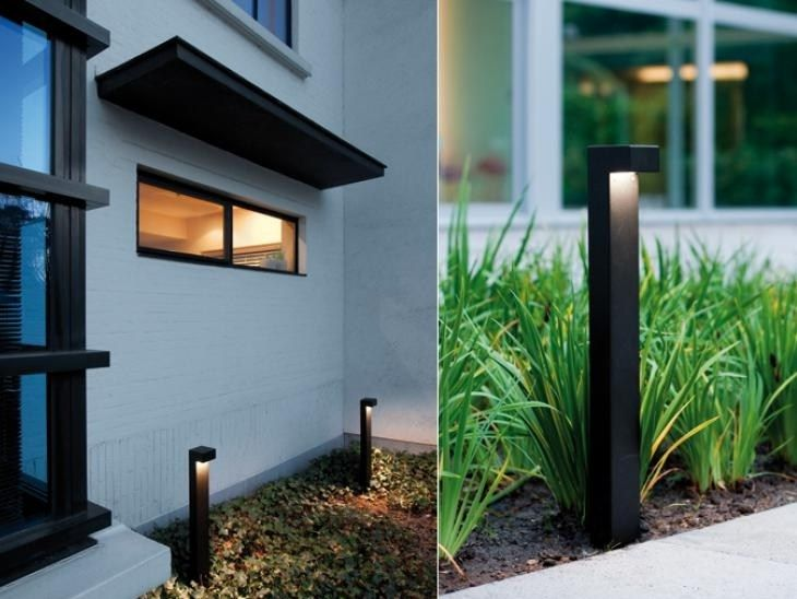 Aluminium bollard light SIMPLY 90 BLACK - PVD Concept