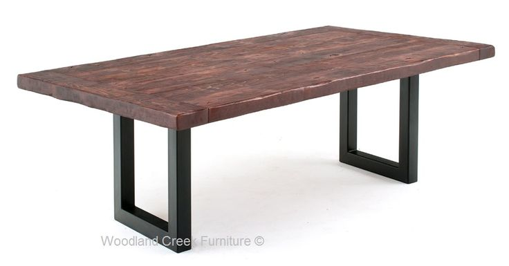 Modern Industrial Dining Table - Wood Land Creek Funiture