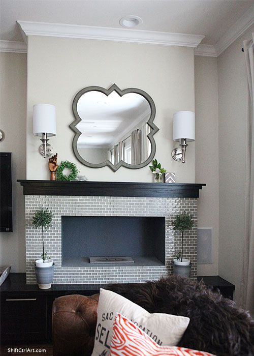 Brooklyn Limestone blog | Love the mirror, sconces, fireplace