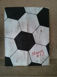 Customized Handmade Wooden Soccer Ball Sign by SunStateSisters