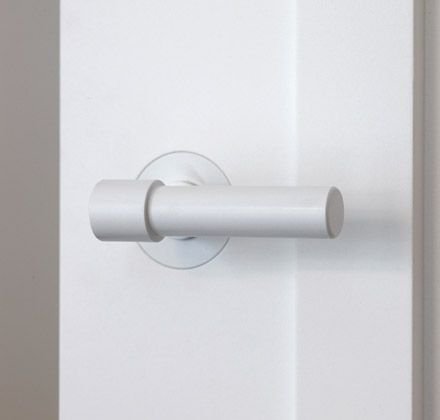 Like the idea of using white levers on all the doors - these are from Piet Boon® hardware by Formani | Piet Boon®