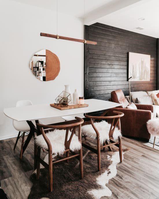 Scandinavian Minimalism Meets Organic Bohemian In Texas Scandinavian Dining Room Minimalism Interior Interior
