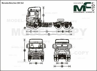 Mercedes-Benz Axor 2641 6x4 - drawing
