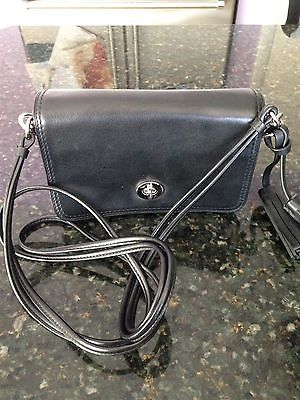 COACH Legacy  Black Leather Penny Crossbody Shoulder Bag