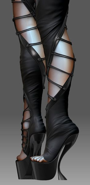 3d realistic sexy boots model - Sexy Boots... by FerasJarwan