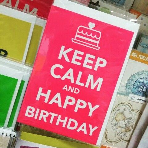 Biglietto augurale compleanno della linea Keep Calm