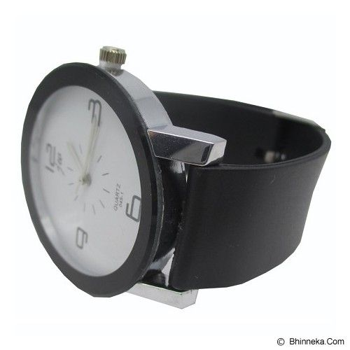 ESA Fashionable Stainless Steel Silicone Band Quartz Watch [JW045-1] - Black - Jam Tangan Pria Fashion