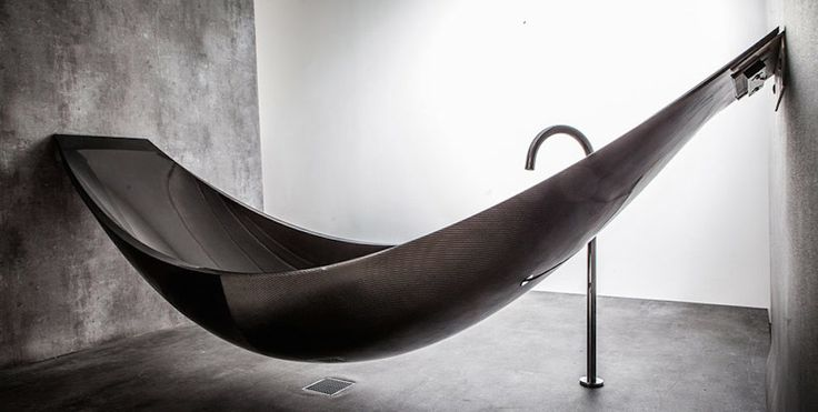 Featured Image for The most epic bath tub of our time is shaped like a relaxing hammock