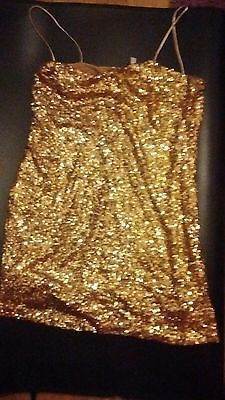 gold sequin top sizeL
