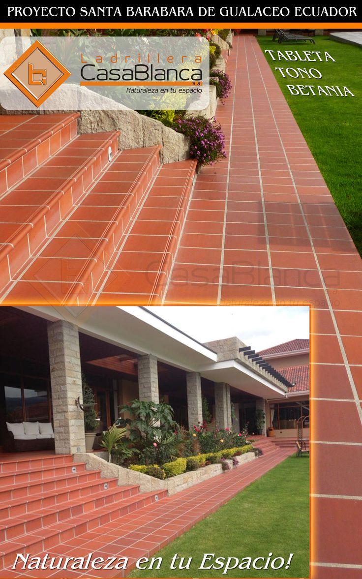 Dale otro estilo a tus pisos con Ladrillera Casablanca  Ambiente con tableta tono Betania - Proyecto Santa Barbara de Gualaceo, Ecuador.  Naturaleza en tu espacio! www.ladrilleracasablanca.com