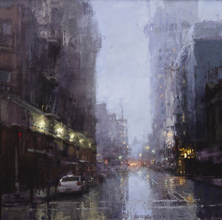 """Evening Rains Downtown"" ... by Jeremy Mann"