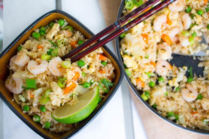 Fried rice med räkor