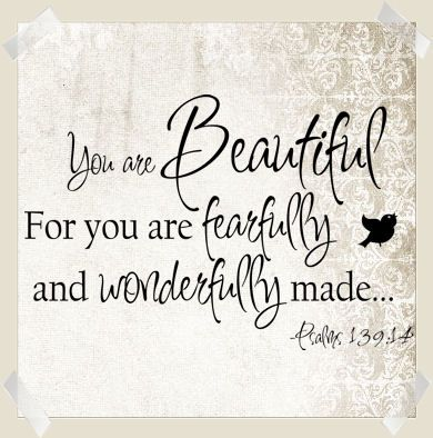 You Are Beautiful Fearfully Wonderfully Made Wall Decals from www.tradingphrases.com