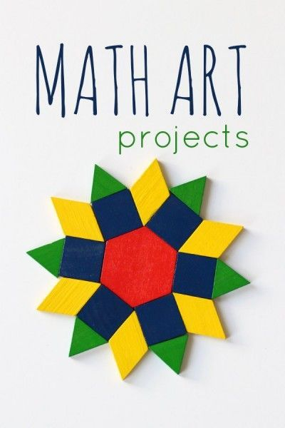 Math art project idea for kids and families. Over a dozen ideas to inspire creativity.