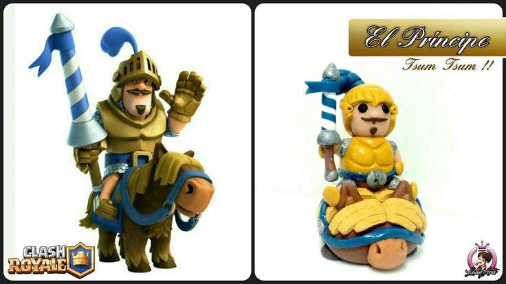 Clash Royale | Polymer Clay | El Principe | Tsum Tsum | Tutorial