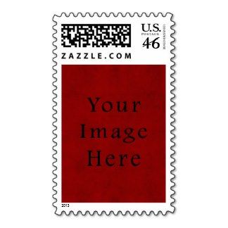 Vintage Holiday Christmas Red Parchment Paper Postage Stamp