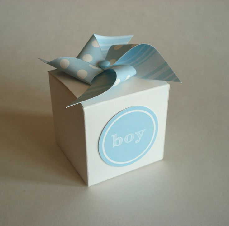 Baby Boy Shower Favor Box with Pinwheel FREE by sweetpartybliss, $19.95