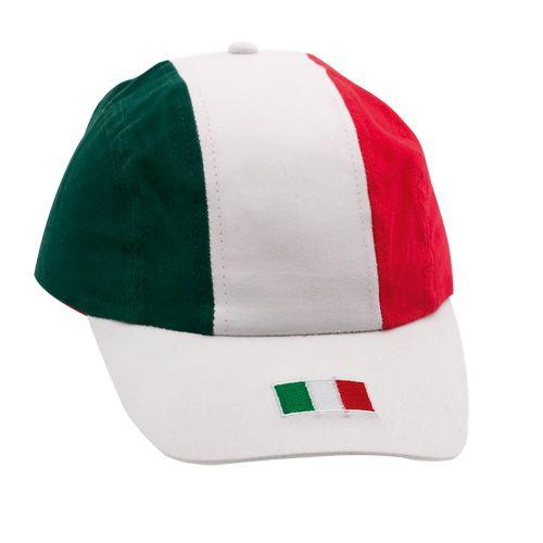 Cappellino visiera con tricolore, possibilità di personalizzazione. Prezzo base 2,57 euro. Chiama Decografic allo 010/9111632 per ordinare! #italia #calcio #brasile2014 #mondiali