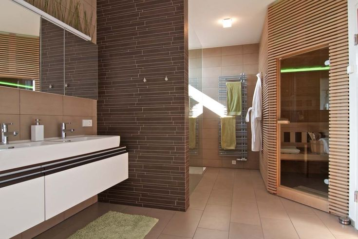 This sauna has had the Loxone treatment- the owners turn it on via iPhone on the way home from a day's skiing so that it's nice and toasty when they arrive back at the house.