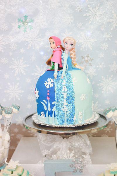 Frozen Theme - Huda Salman Photography #FrozenCake #Anna #Elsa