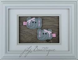Elephant Hair Clips -$5.00 for pair available on jLj Bowtique