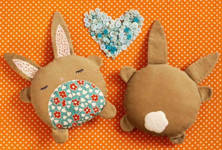 PDF Sewing Pattern Betsy & Basil Bunny Softies. $8.00, via Etsy.