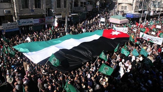 Jordanians #rally against government's plan to raise #commodity prices