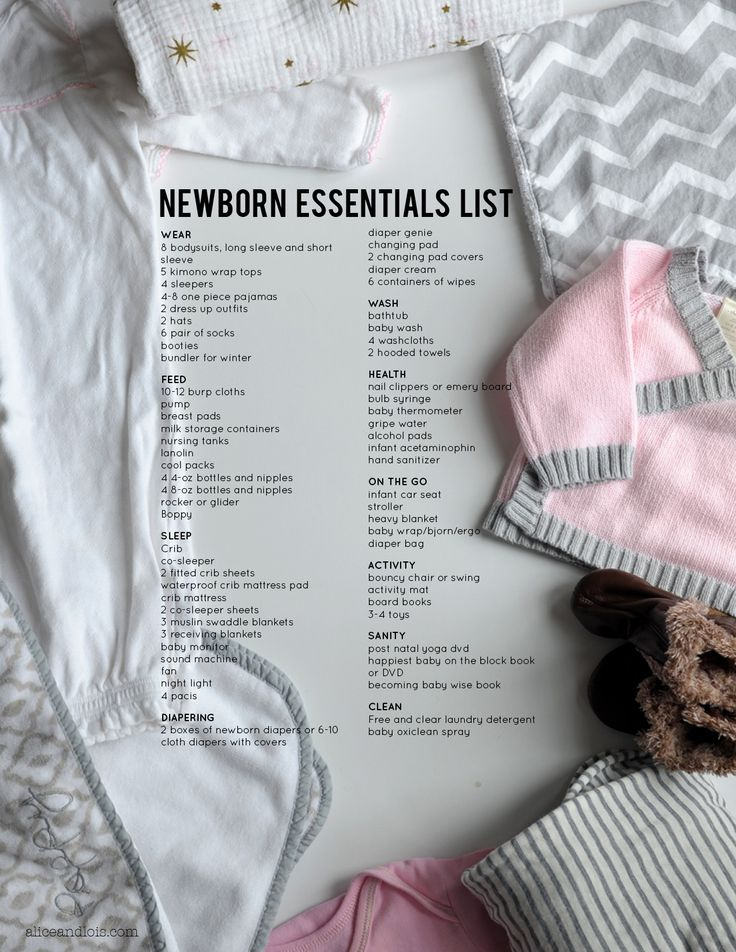 The Newborn Essentials List on aliceandlois.com