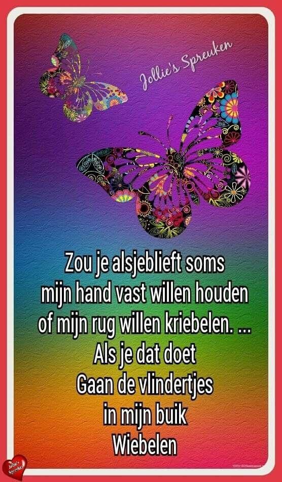 Beroemd Vlinders | #troost | Pinterest - Gedichten, Vlinders en Lieve teksten @TC75