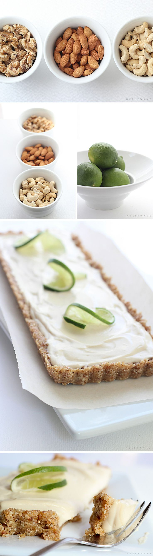 recipe for raw vegan lime tart