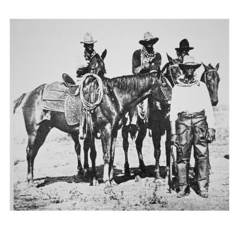 Black Cowboys at Bonham, Texas, C.1890